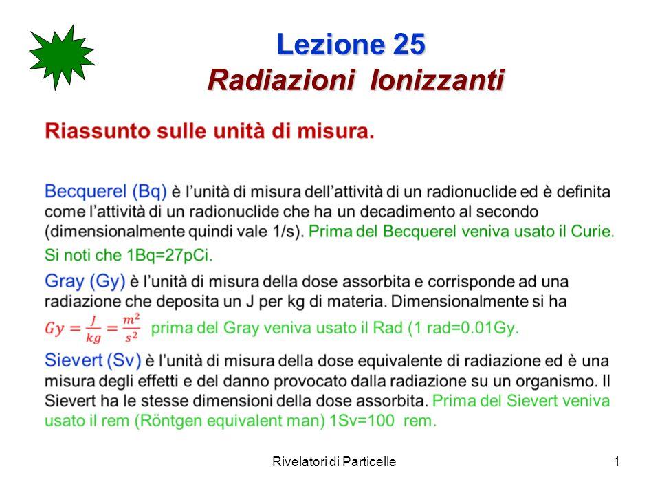 Lezione 25 Radiazioni Ionizzanti