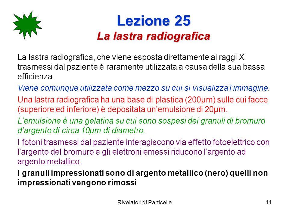 Lezione 25 La lastra radiografica