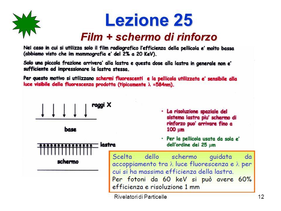 Lezione 25 Film + schermo di rinforzo