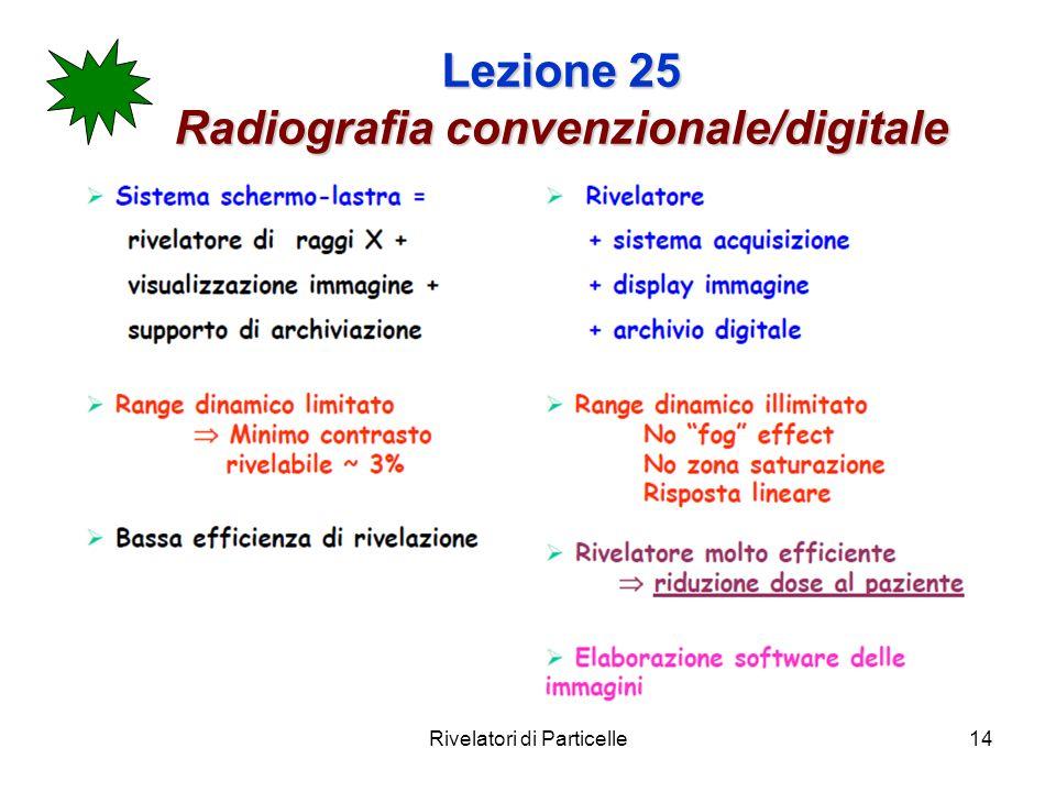 Lezione 25 Radiografia convenzionale/digitale