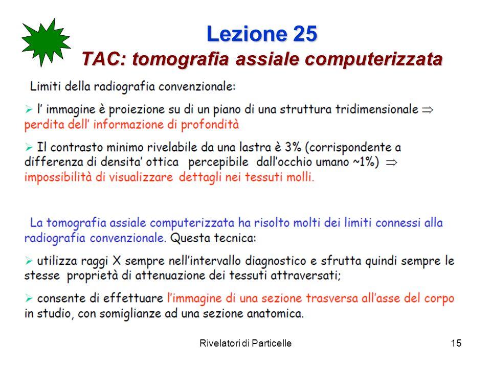 Lezione 25 TAC: tomografia assiale computerizzata