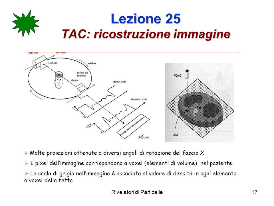 Lezione 25 TAC: ricostruzione immagine
