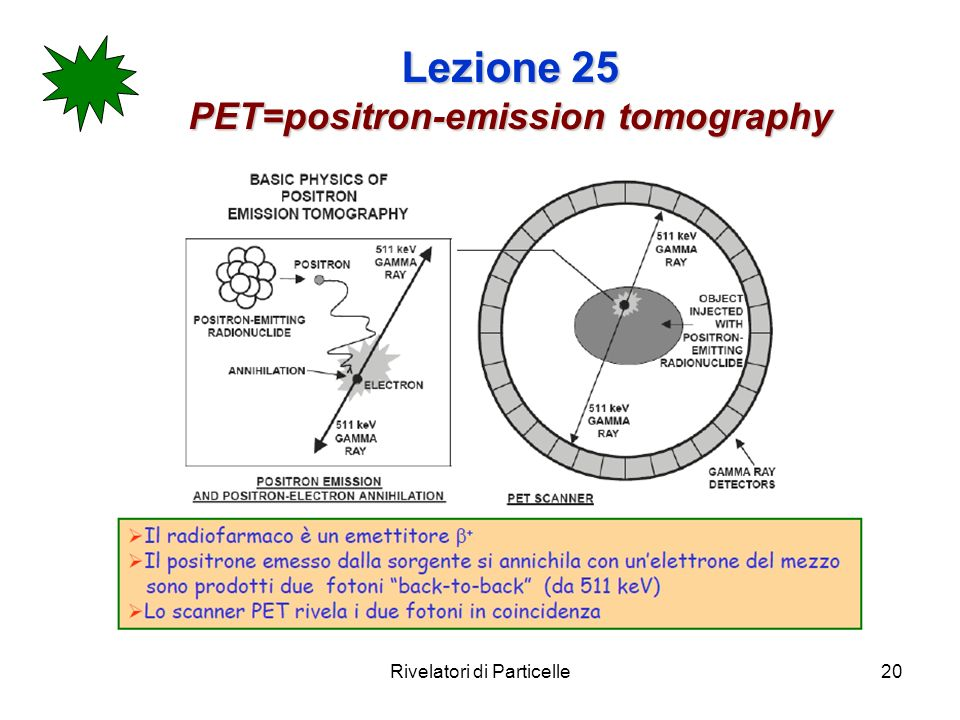 Lezione 25 PET=positron-emission tomography