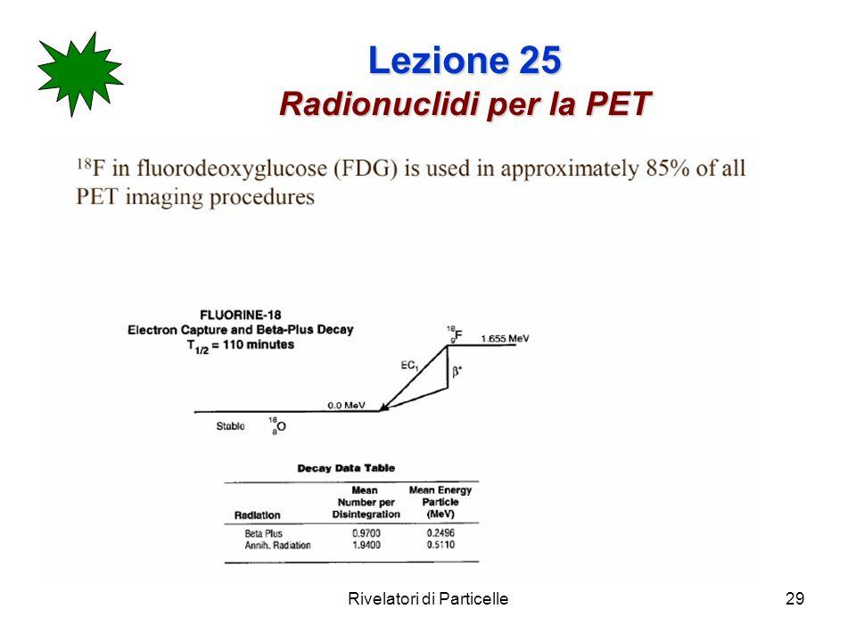 Lezione 25 Radionuclidi per la PET