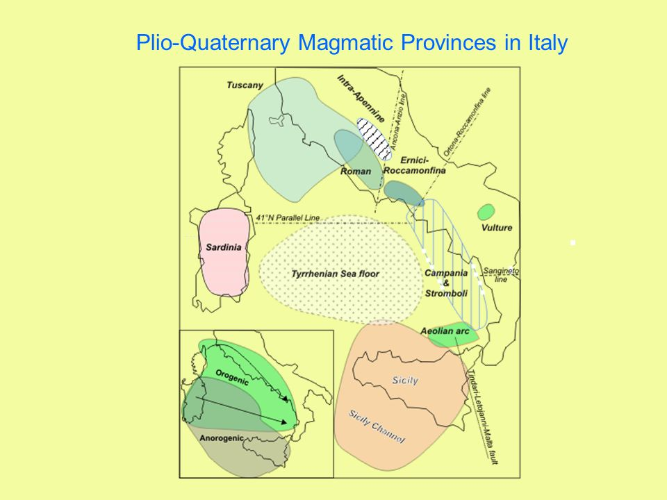 Plio-Quaternary Magmatic Provinces in Italy