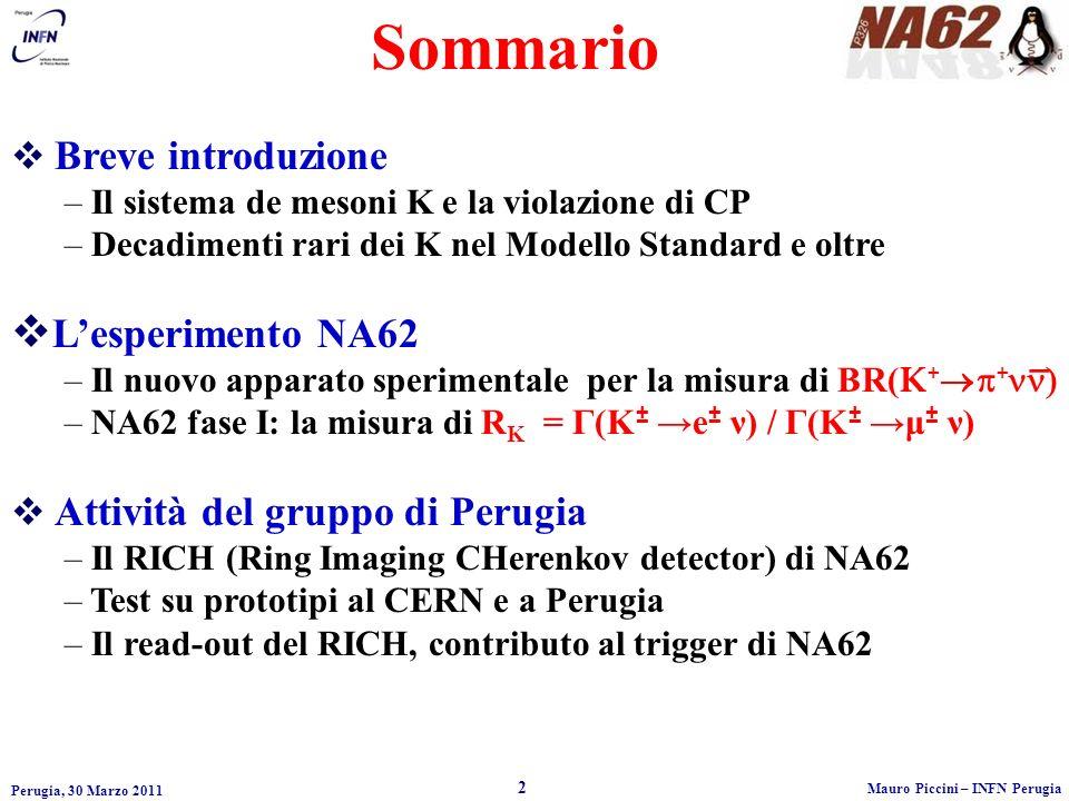 Sommario L'esperimento NA62 Breve introduzione