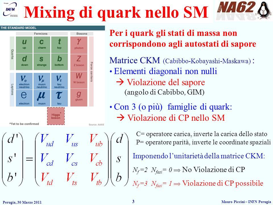 Mixing di quark nello SM