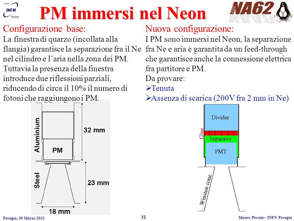 PM immersi nel Neon Configurazione base: Nuova configurazione: