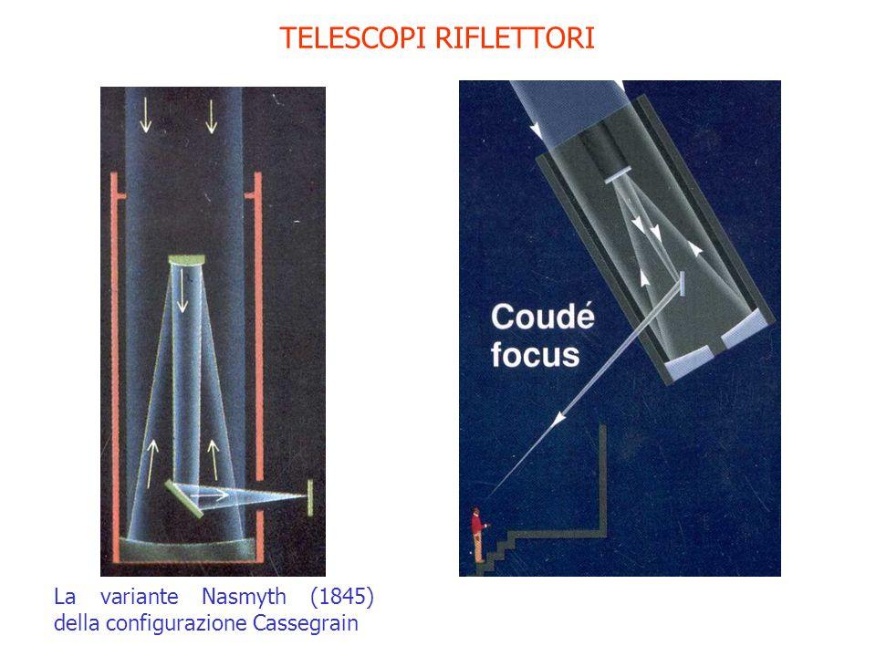 TELESCOPI RIFLETTORI La variante Nasmyth (1845) della configurazione Cassegrain