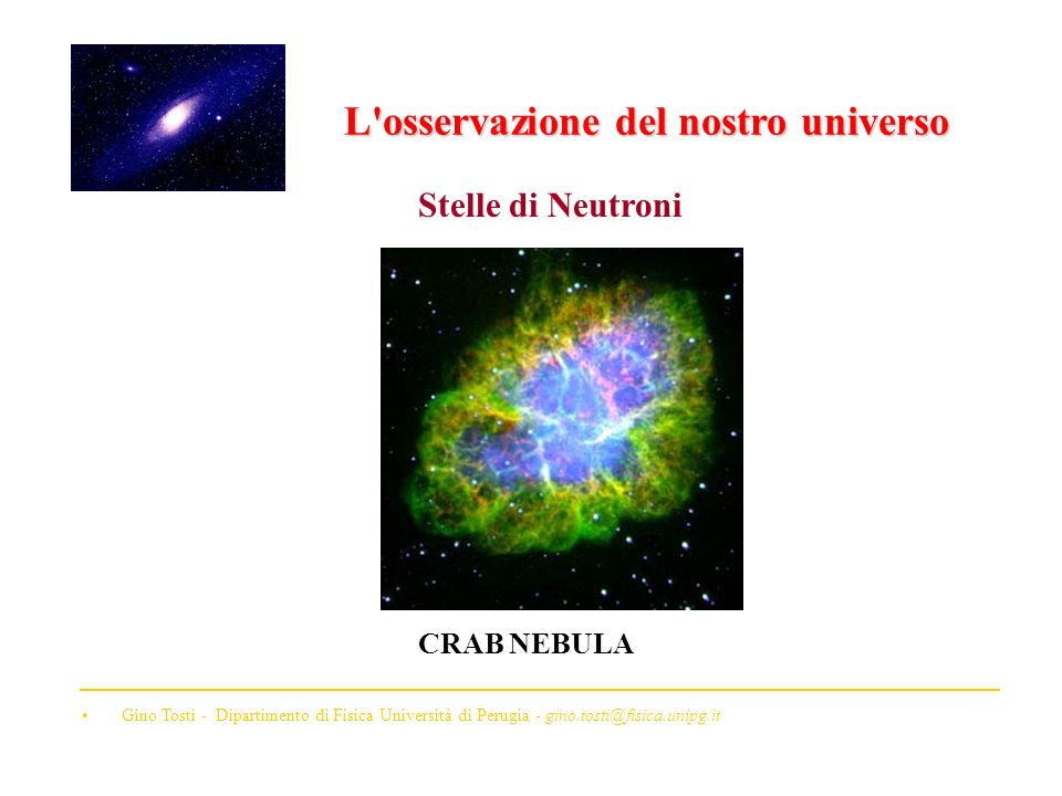 L osservazione del nostro universo