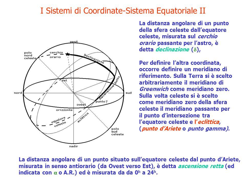 I Sistemi di Coordinate-Sistema Equatoriale II