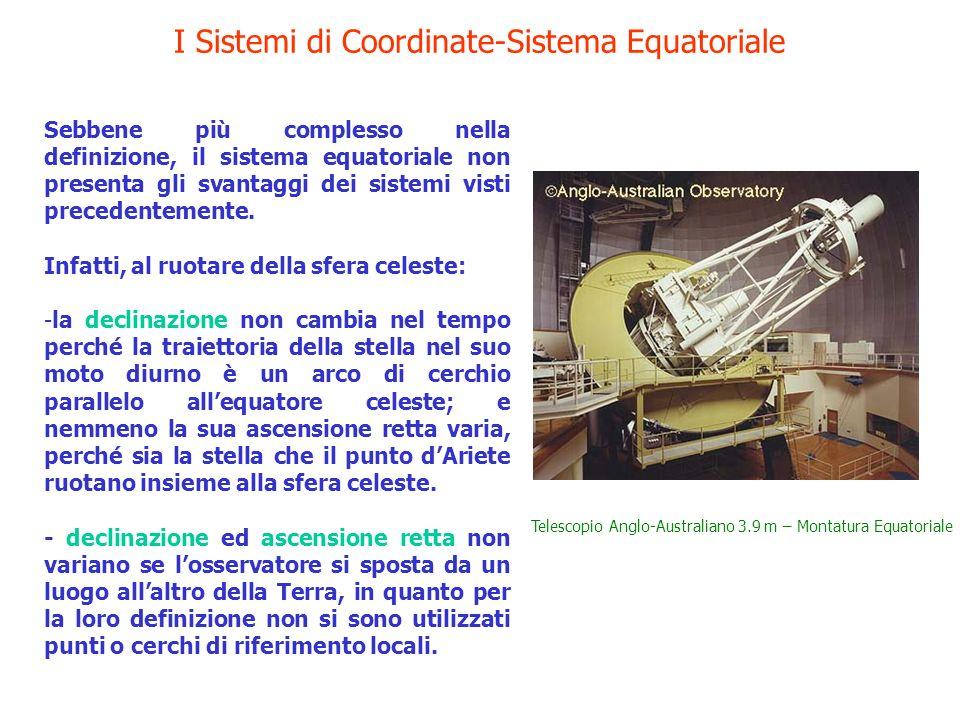 I Sistemi di Coordinate-Sistema Equatoriale