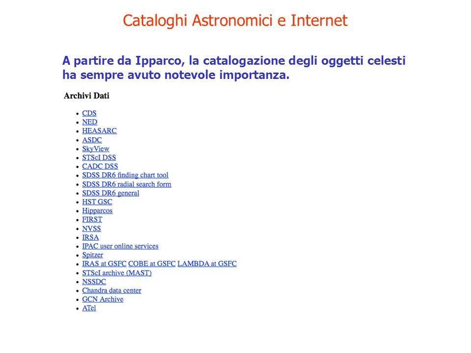 Cataloghi Astronomici e Internet