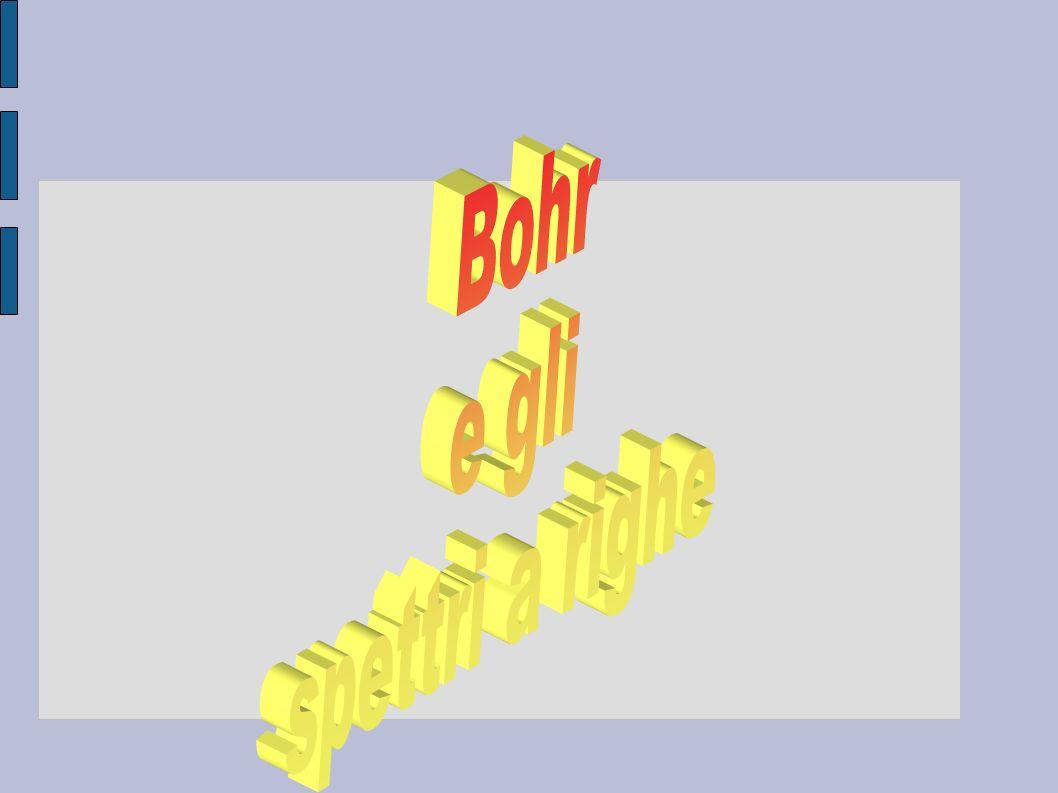 Bohr e gli spettri a righe