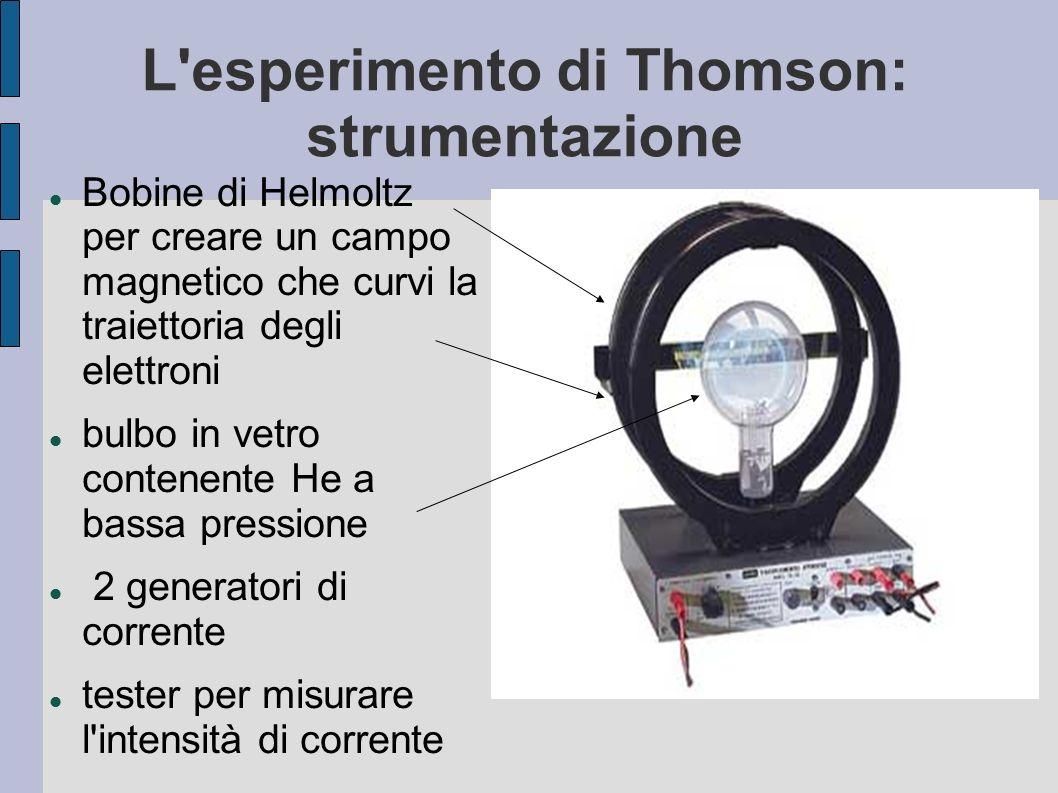 L esperimento di Thomson: strumentazione
