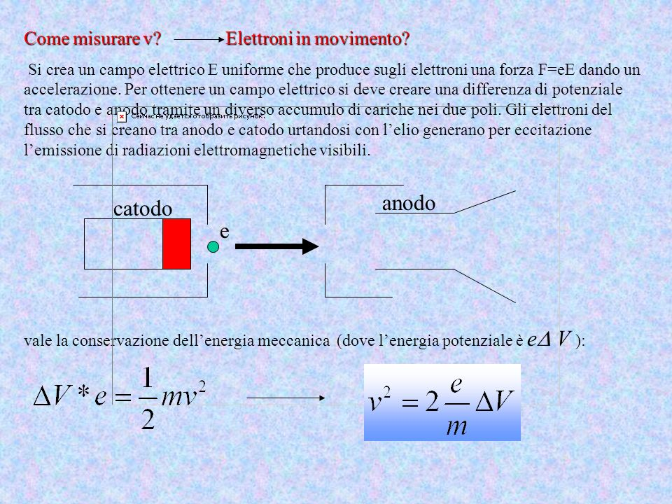 anodo catodo e Come misurare v Elettroni in movimento