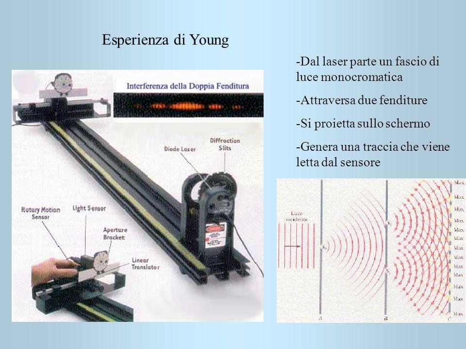 Esperienza di Young -Dal laser parte un fascio di luce monocromatica