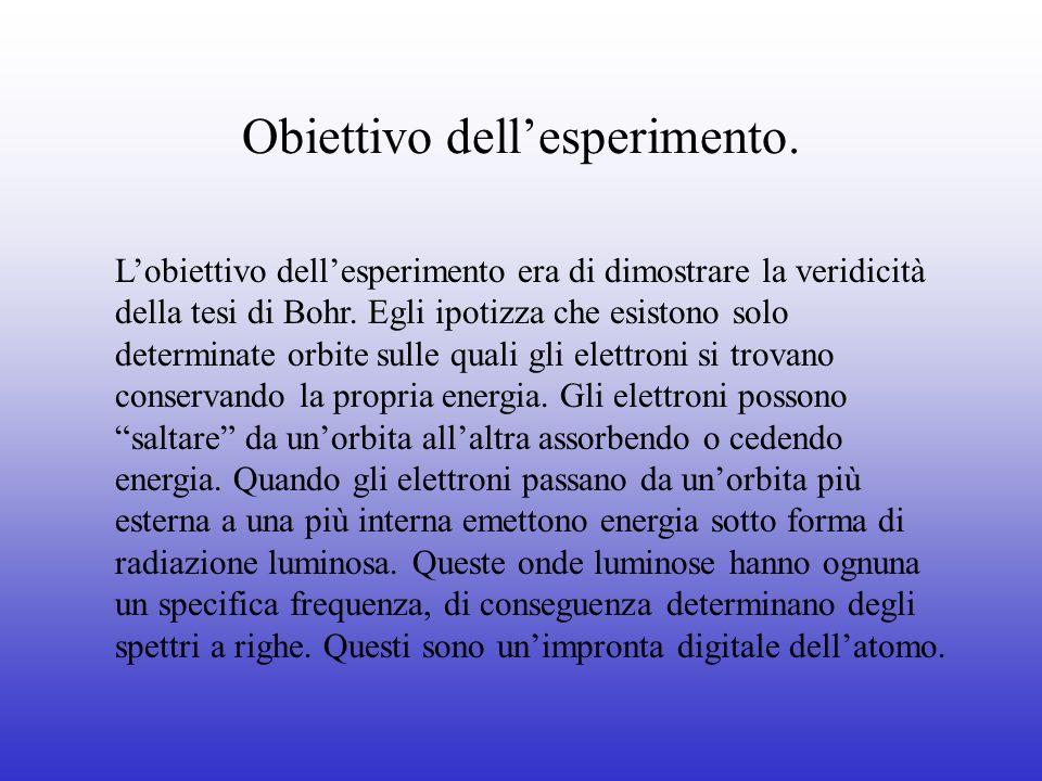 Obiettivo dell'esperimento.