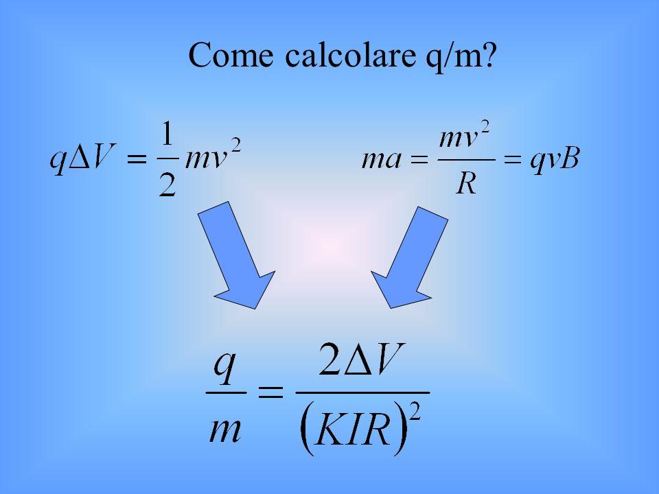 Come calcolare q/m