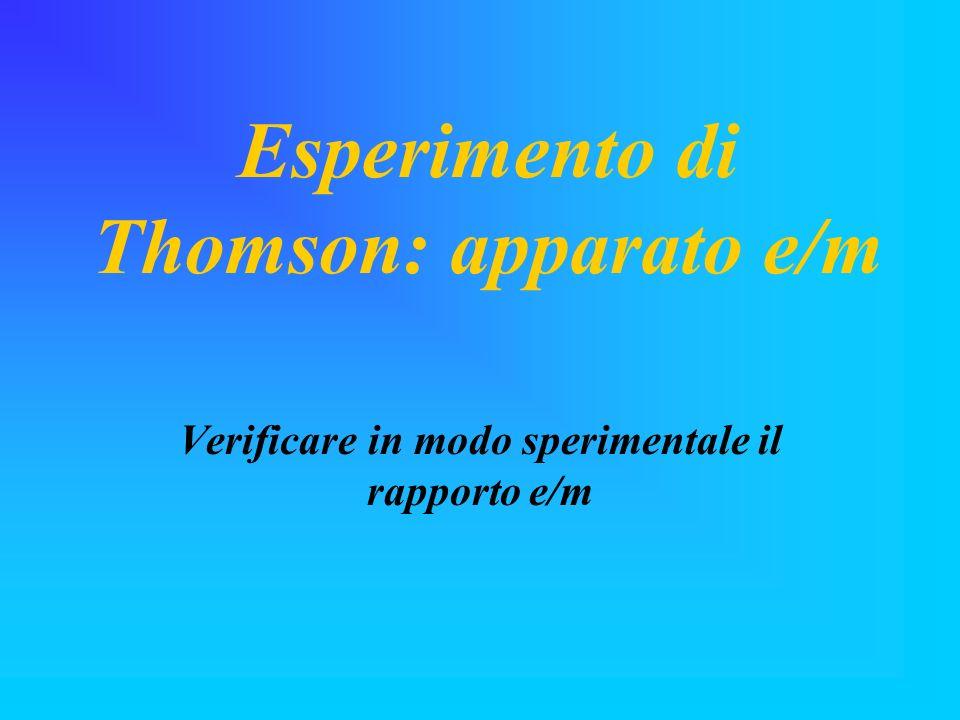 Esperimento di Thomson: apparato e/m