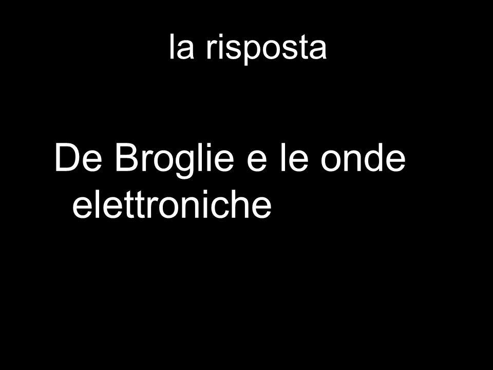 De Broglie e le onde elettroniche
