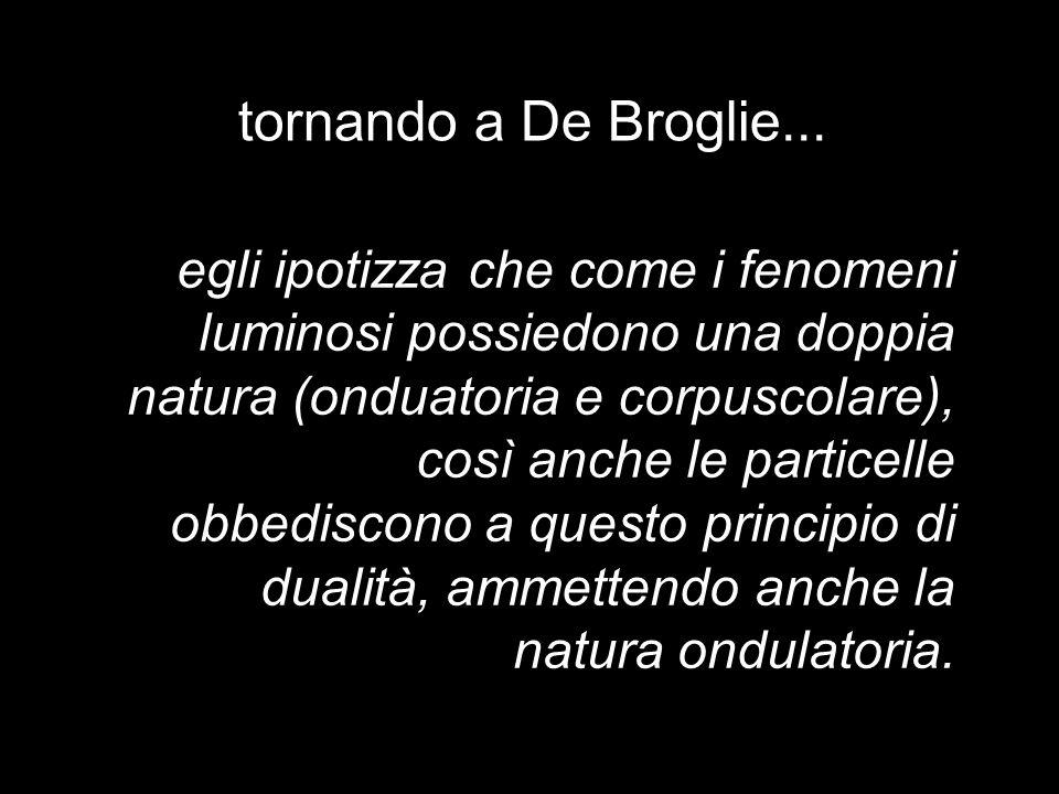 tornando a De Broglie...