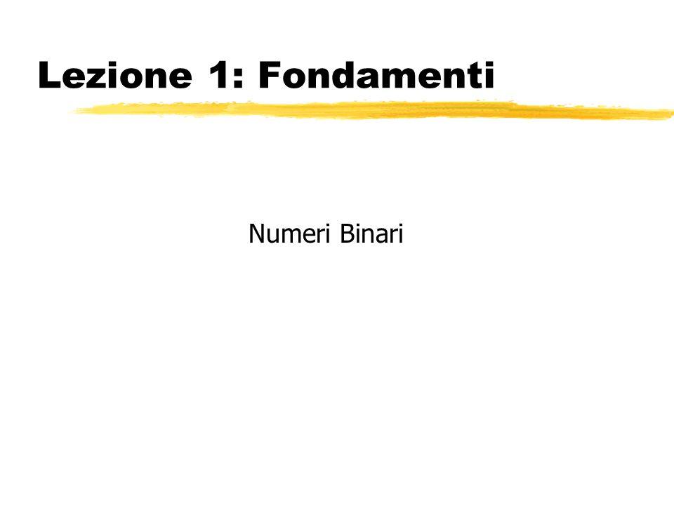 Lezione 1: Fondamenti Numeri Binari