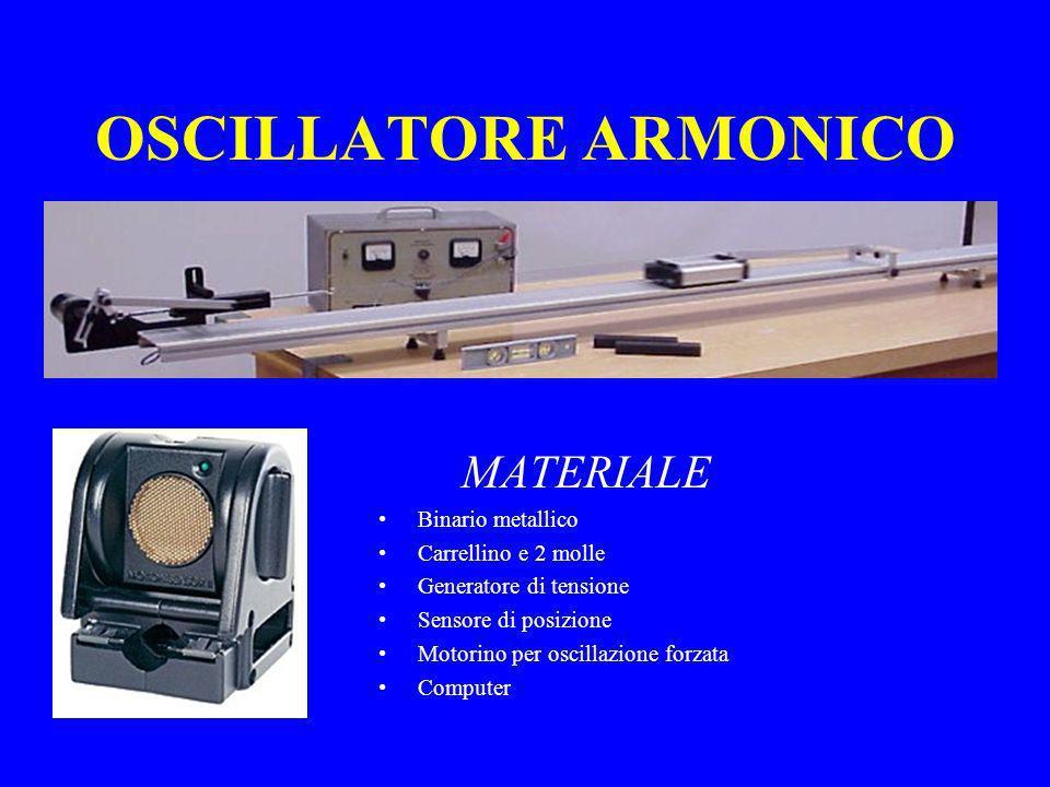 OSCILLATORE ARMONICO MATERIALE Binario metallico Carrellino e 2 molle