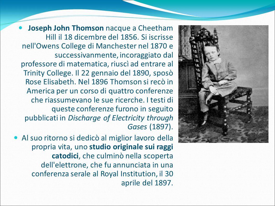Joseph John Thomson nacque a Cheetham Hill il 18 dicembre del 1856