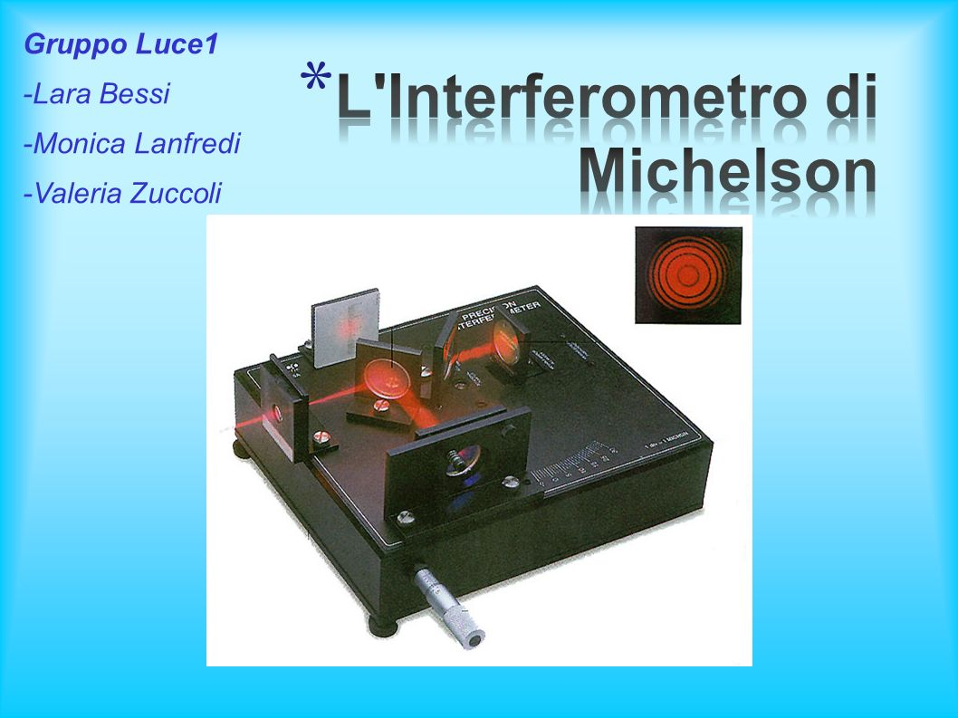 L Interferometro di Michelson