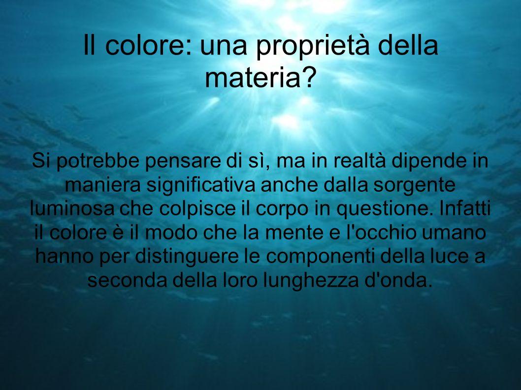 Il colore: una proprietà della materia