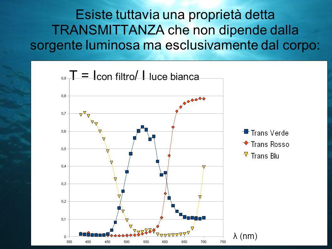 T = Icon filtro/ I luce bianca