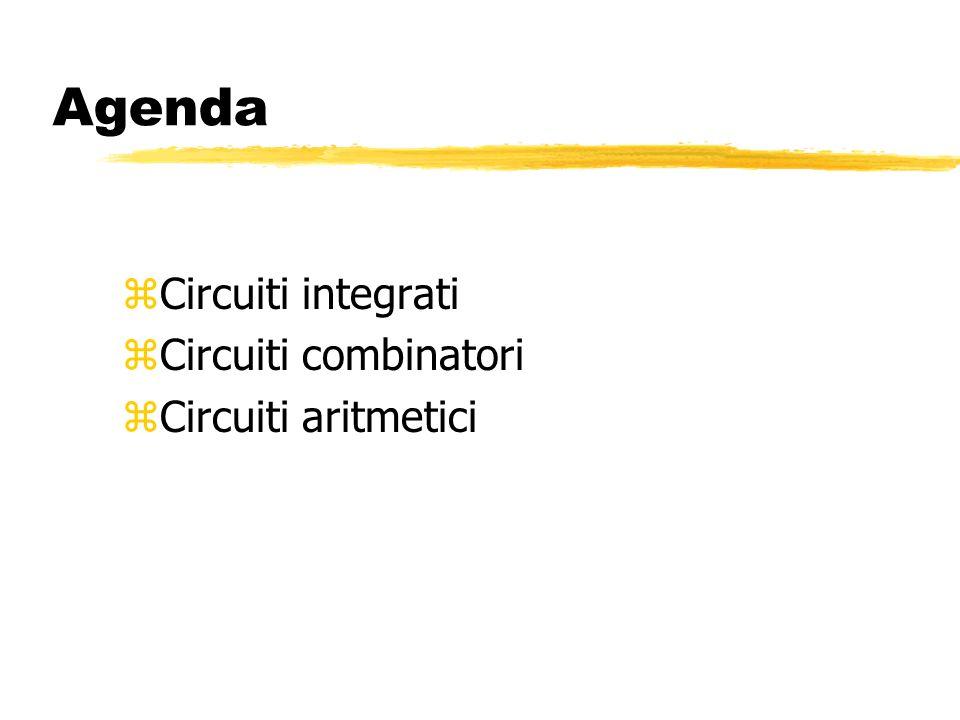 Agenda Circuiti integrati Circuiti combinatori Circuiti aritmetici