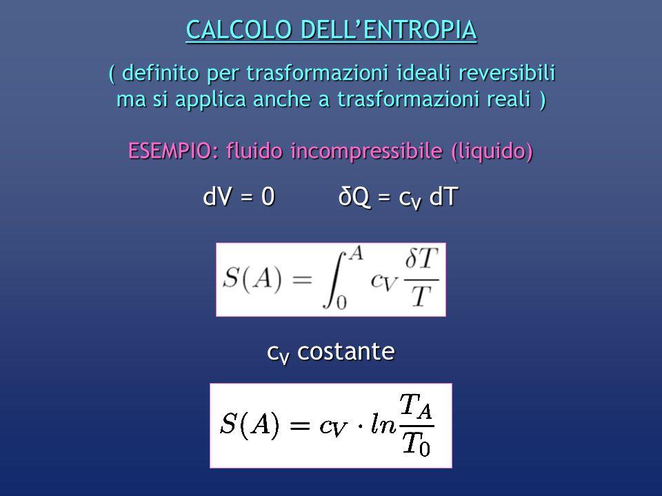 CALCOLO DELL'ENTROPIA