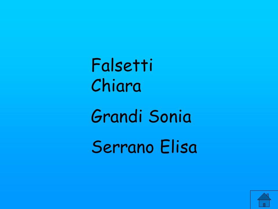 Falsetti Chiara Grandi Sonia Serrano Elisa