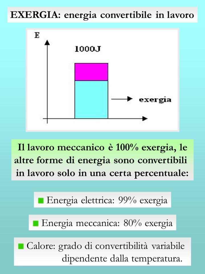 EXERGIA: energia convertibile in lavoro