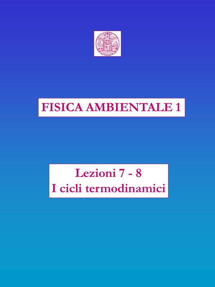 FISICA AMBIENTALE 1 Lezioni 7 - 8 I cicli termodinamici