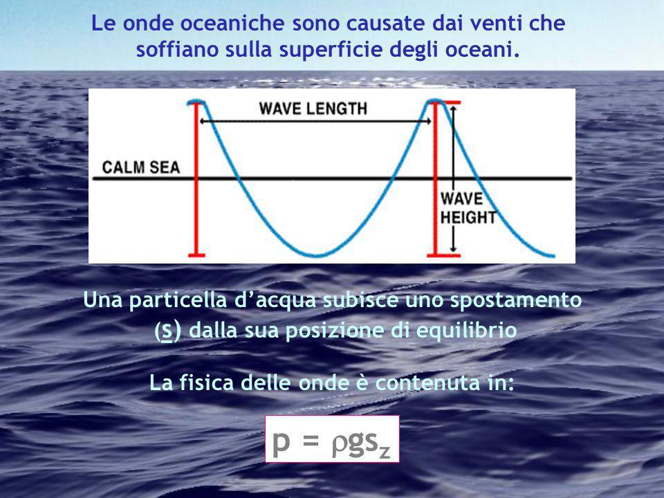 p = gsz Le onde oceaniche sono causate dai venti che