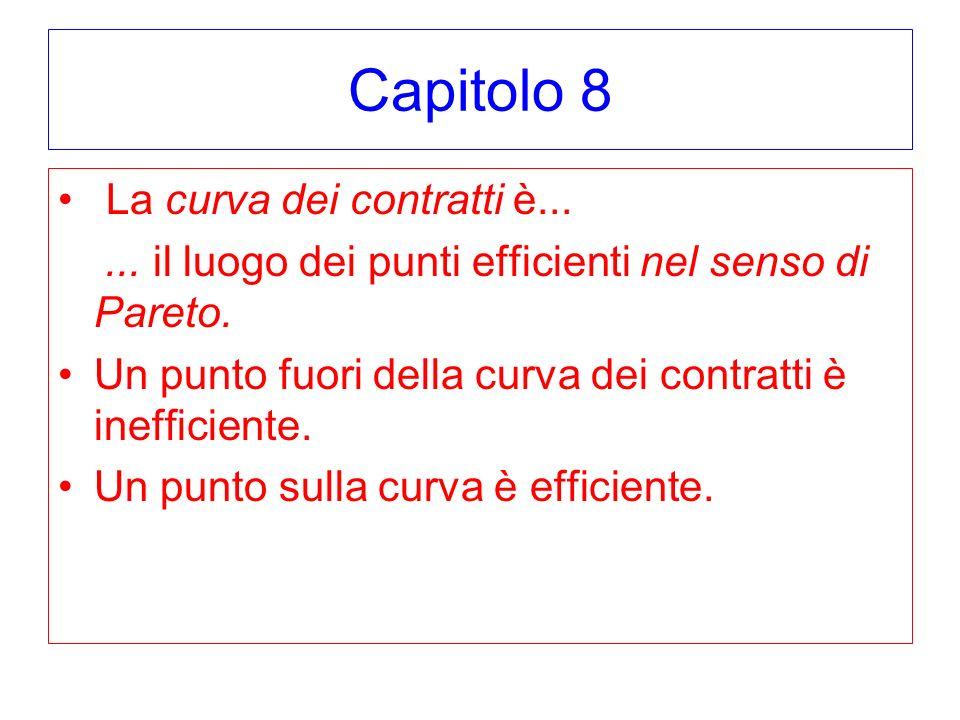 Capitolo 8 La curva dei contratti è...