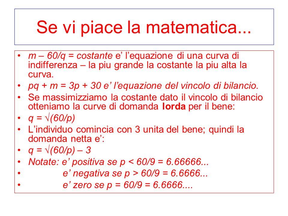 Se vi piace la matematica...