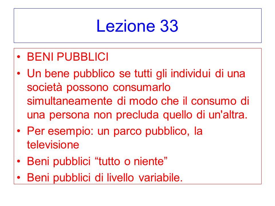 Lezione 33 BENI PUBBLICI.