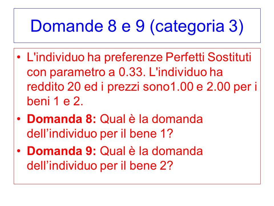 Domande 8 e 9 (categoria 3)