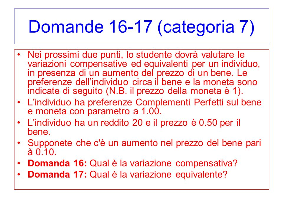 Domande 16-17 (categoria 7)