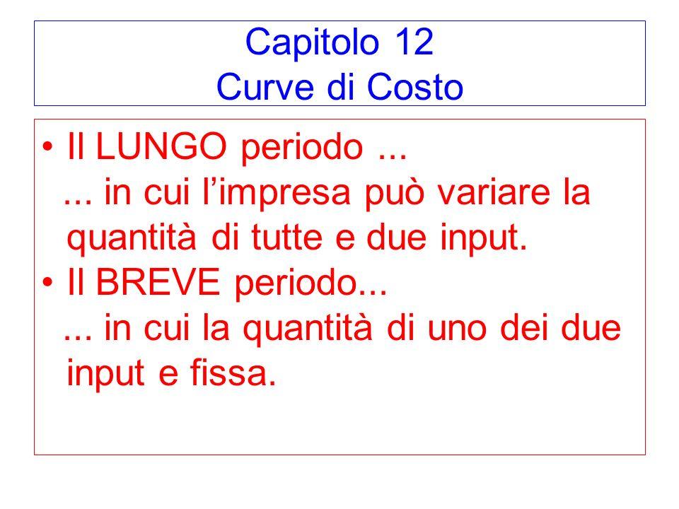 Capitolo 12 Curve di Costo
