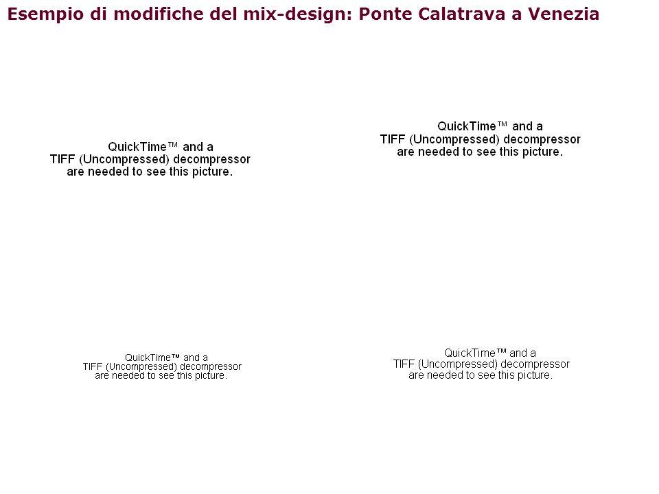 Esempio di modifiche del mix-design: Ponte Calatrava a Venezia