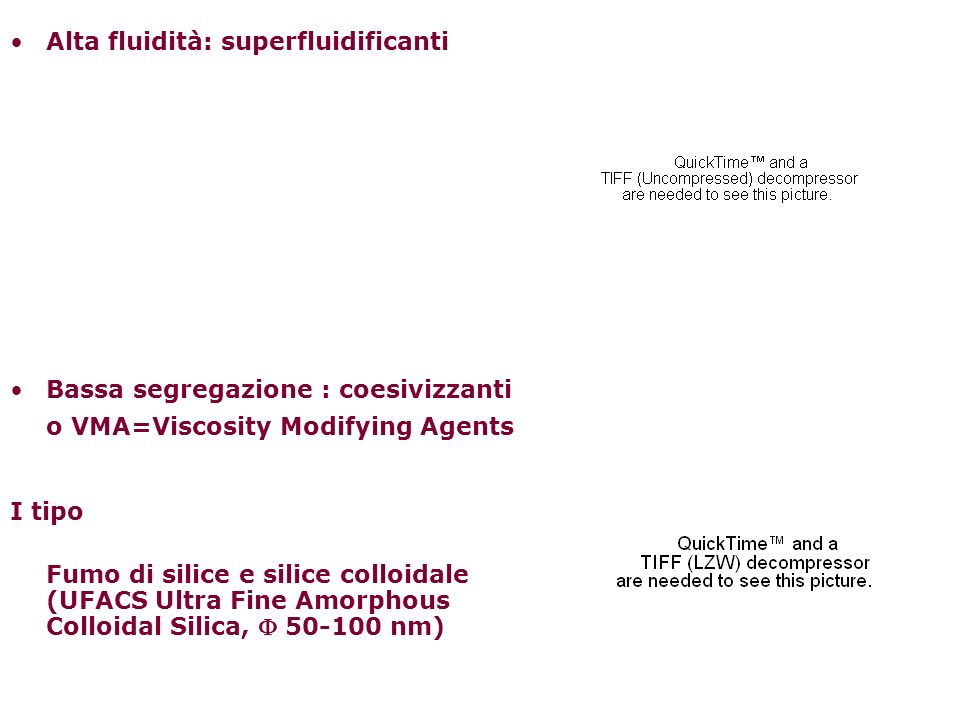 Alta fluidità: superfluidificanti