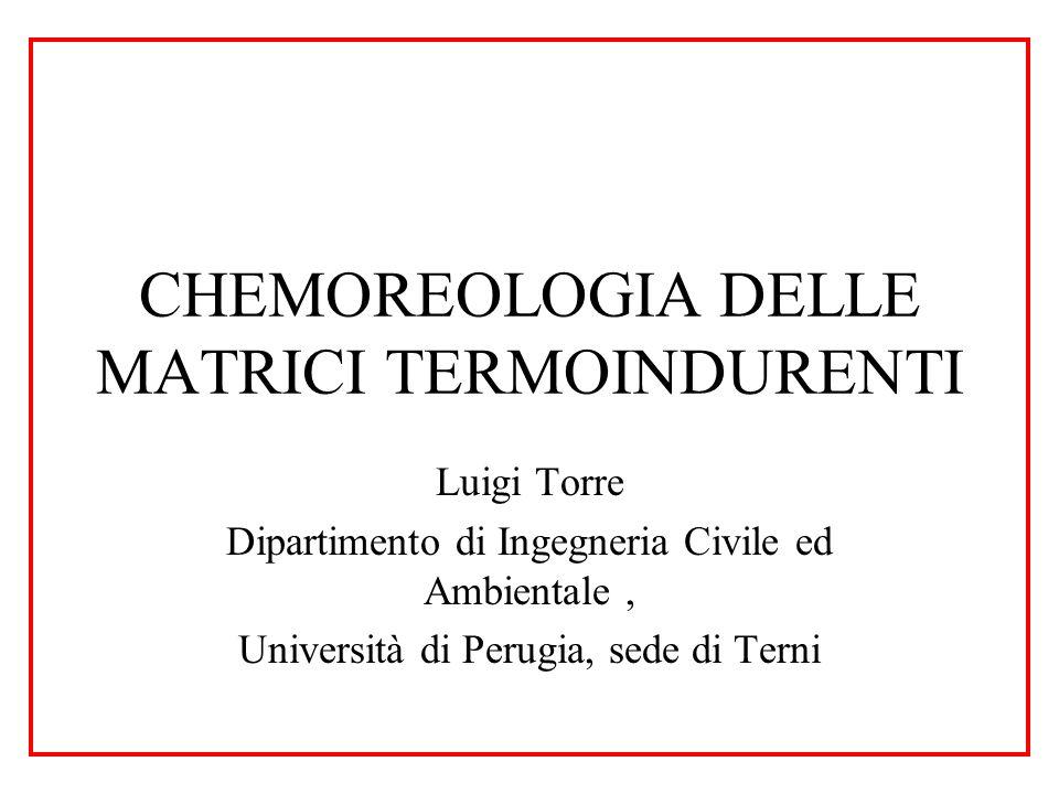 CHEMOREOLOGIA DELLE MATRICI TERMOINDURENTI