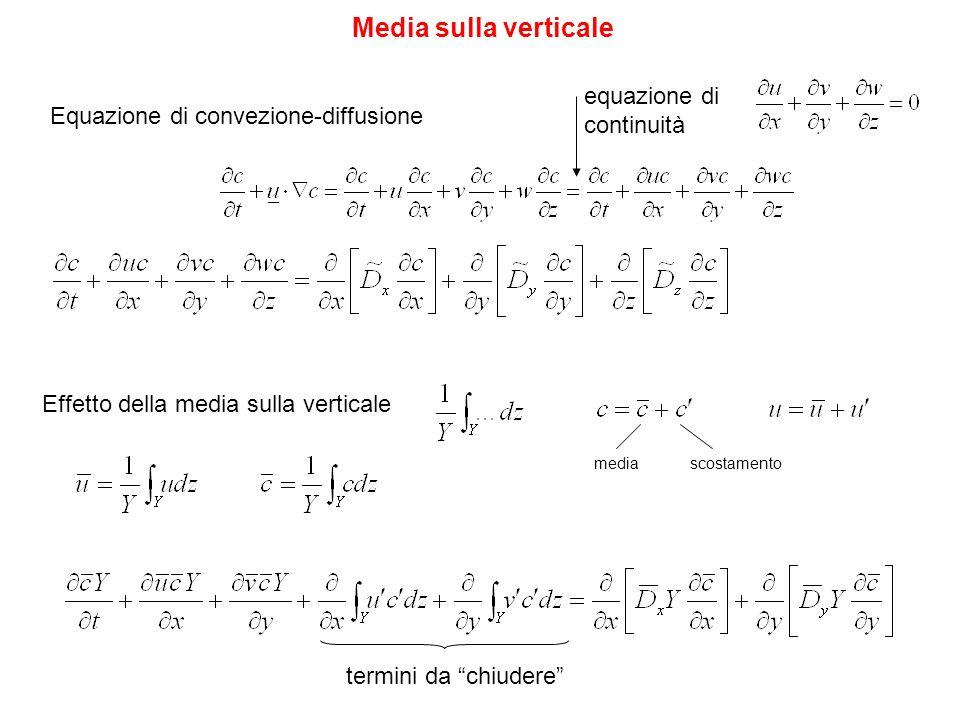 Media sulla verticale equazione di continuità