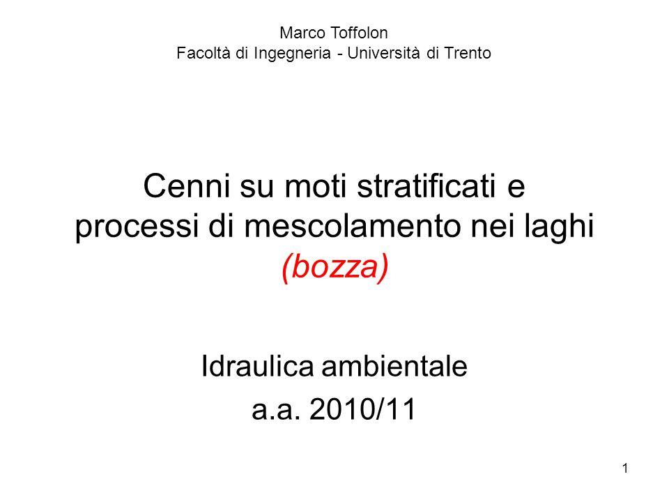 Idraulica ambientale a.a. 2010/11