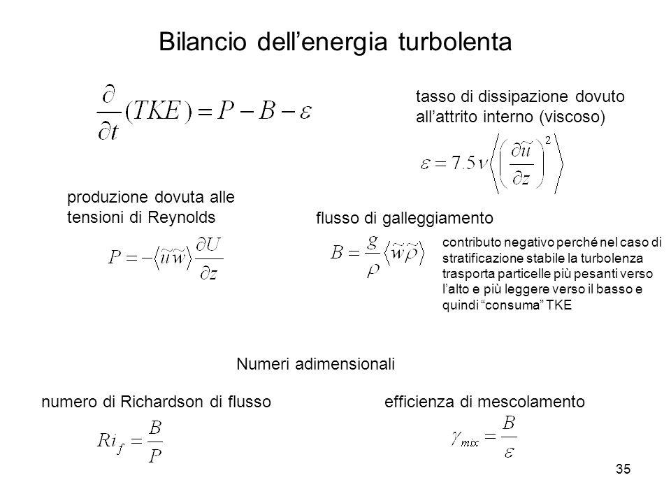 Bilancio dell'energia turbolenta